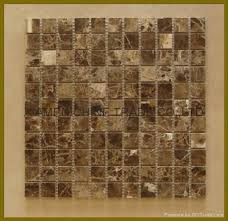 Dark Emprador Mosaic tile from AL RAFAHIA MARBLES AND GRANITE LLC