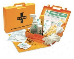 Body Fluid & Sharps Disposal Kit from ARASCA MEDICAL EQUIPMENT TRADING LLC