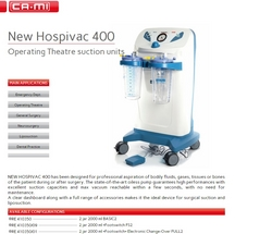OT SUCTION UNIT-  CAMI ITALY  from MASTERMED EQUIPMENT TRADING LLC