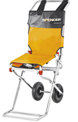 Compact evacuation chair from ARASCA MEDICAL EQUIPMENT TRADING LLC
