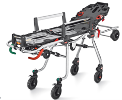 Self loading variable heights stretcher from ARASCA MEDICAL EQUIPMENT TRADING LLC