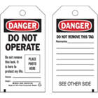 BRADY Self-Laminating Polyester Danger Tag in uae from WORLD WIDE DISTRIBUTION FZE