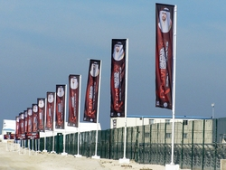 flags and poles for rental from CLOUD COMMUNICATIONS FZE