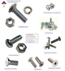 ROUND HEAD BOLTS, CARRIAGE BOLTS, MUSHROOM HEAD  from AL JAZEERA BOLTS INDUSTRIES LLC