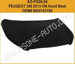 Hood Steel For Peugeot 308 Auto Body Parts from YANGZHOU ASONE IMPORT&EXPORT CO.,LTD.