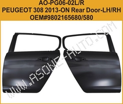 Rear Door For Peugeot 308 Auto Body Parts from YANGZHOU ASONE IMPORT&EXPORT CO.,LTD.