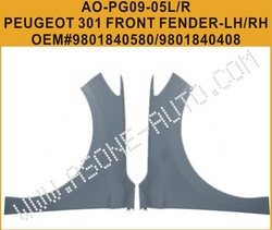 AsOne Front Fender For Peugeot 301 OEM=9801840580 from YANGZHOU ASONE IMPORT&EXPORT CO.,LTD.