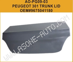AsOne Trunk Lid For Peugeot 301 OEM=9675041180 from YANGZHOU ASONE IMPORT&EXPORT CO.,LTD.