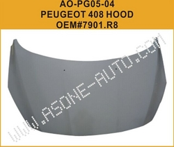 AsOne Hood/Bonnet For Peugeot 408 OEM=7901.R8 from YANGZHOU ASONE IMPORT&EXPORT CO.,LTD.