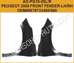 Aftermarket Auto Parts Peugeot 2008 Front Fender from YANGZHOU ASONE IMPORT&EXPORT CO.,LTD.