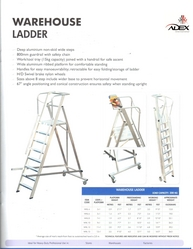 Warehouse Ladder from ADEX  PHIJU@ADEXUAE.COM/ SALES@ADEXUAE.COM/0558763747/05640833058