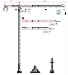 For Sale Tower Crane Dubai - Yongmao Tower Crane STT1100 from HOUSE OF EQUIPMENT