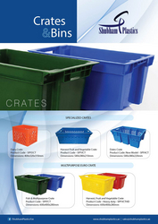 PLASTIC CRATES IN SHARJAH from SHUBHAM PLASTICS FZE