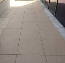 Shot Blasted Tiles (Square Pavers) Supply & Fixing