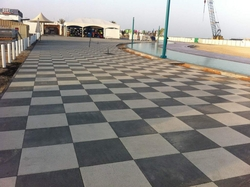 Shot Blasted Tiles (Square Pavers) In UAE from DUCON BUILDING MATERIALS LLC
