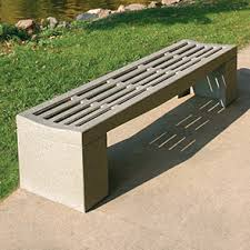 Perforated Precast Concrete Bench in UAE from DUCON BUILDING MATERIALS LLC