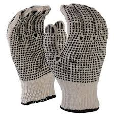 Dotted Double Side Gloves For Safety Black& Blue from CLEAR WAY BUILDING MATERIALS TRADING