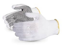 Single Side Dotted Gloves Black & Blue from CLEAR WAY BUILDING MATERIALS TRADING