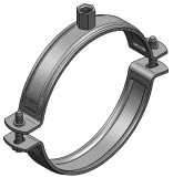 Pipe clamp Trabant, unlined
