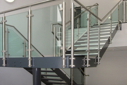 SS Handrail with glass from EURO STEEL AND ALUMINIUM LLC