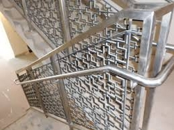SS handrail with Design from EURO STEEL AND ALUMINIUM LLC