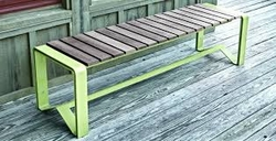 METAL BENCH from EURO STEEL AND ALUMINIUM LLC