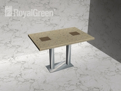 SS table leg with korean marble top from EURO STEEL AND ALUMINIUM LLC