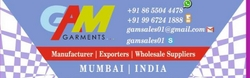 Garments Manufacturers & Exporters from G A M GARMENTS