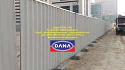 Corrugated Metal Hoarding Fence Panel Shinko Supplier Installer UAE -DANA STEEL from DANA GROUP UAE-OMAN-SAUDI