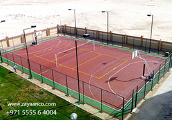 Outdoor Sports Flooring Specialist in Dubai, UAE from ZAYAANCO