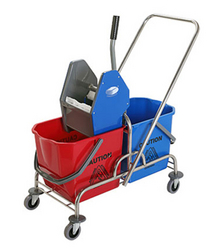 double bucket trolley with wringer from ADEX  PHIJU@ADEXUAE.COM/ SALES@ADEXUAE.COM/0558763747/05640833058