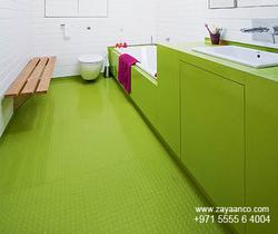 Toilet Vinyl Flooring Installers in Dubai, UAE from ZAYAANCO