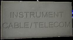 Concrete cable tile supplier in Dubai from ALCON CONCRETE PRODUCTS FACTORY LLC