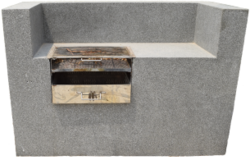 Concrete Barbeque stand supplier in UAE from ALCON CONCRETE PRODUCTS FACTORY LLC