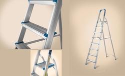 Platform Step Aluminium Ladder from AL BAWADI METAL INDUSTRIES LLC