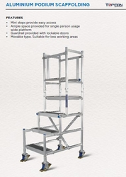 Aluminium Podium Scaffolding from AL BAWADI METAL INDUSTRIES LLC