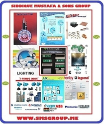 ELECTRIC EQUIPMENT & SUPPLIES RETAIL from SIDDIQUE MUSTAFA & SONS LLC