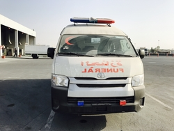 Toyota Hiace High Roof Dead Body Carrier from DAZZLE UAE