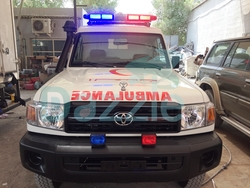 Ambulance Toyota Land Cruiser GRJ 78 Petrol Engine from DAZZLE UAE