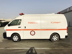 Toyota Hiace High roof Mortuary Ambulance from DAZZLE UAE