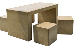 Concrete table and chair manufacturer in Dubai from ALCON CONCRETE PRODUCTS FACTORY LLC
