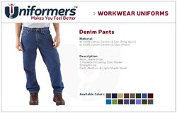 Denim Pants Manufactures in UAE from UNIFORMERS