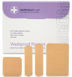 DEPENDA PLAST Waterproof plaster Assorted Boxof 100 from ARASCA MEDICAL EQUIPMENT TRADING LLC