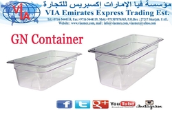 CLEAR GN CONTAINER from VIA EMIRATES EXPRESS TRADING EST