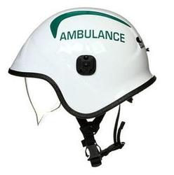 PACIFIC A7A RESCUE & PARAMEDIC HELMET WITH GREEN AMBULANCE TEXT from ARASCA MEDICAL EQUIPMENT TRADING LLC