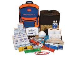 SecueEvac Hi-Visibility Evacuation or Shelter-in-Place Survival kit (5 person in 3 Day) from ARASCA MEDICAL EQUIPMENT TRADING LLC
