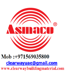ASMACO PRODUCTS DEALER IN MUSAFFAH , ABUDHABI , UAE from CLEAR WAY BUILDING MATERIALS TRADING