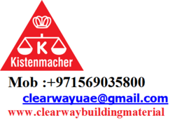 KISTENMACHER PRODUCTS DEALER IN MUSSAFAH , ABUDHABI , UAE from CLEAR WAY BUILDING MATERIALS TRADING