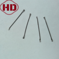 steel fiber with flattened ends for concrete reinforcement