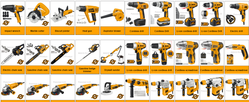 Power tools suppliers in Qatar from AERODYNAMIC TRADING CONTRACTING & SERVICES , QATAR / TELE : 31475043 / SARATH@AERODYNAMICS.QA